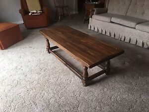 Brown solid wood coffee table