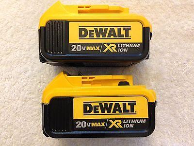 2 New Dewalt 20V Volt Max XR DCB204 4.0Ah Lithium Ion Batteries Li-ion DCB204-2