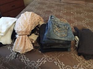A variety of women's clothing, brand names, mint condition