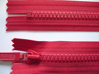 2 Stück Reißverschluß YKK rot  18cm lang, nicht teilbar Y34