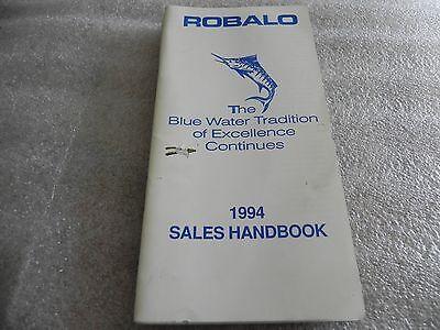 1994 ROBALO Boat Guide, Dealer Sales Book