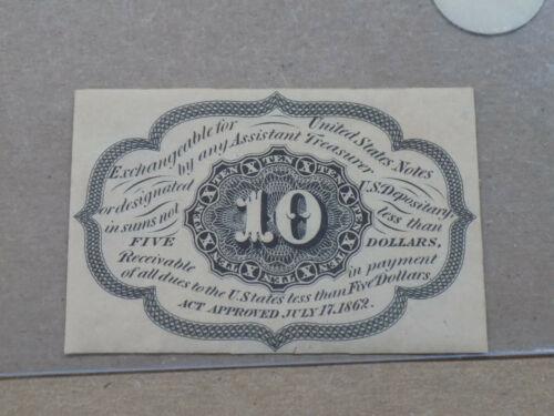 1862 10C TEN CENT FRACTIONAL CURRENCY FR-1243 SPECIMEN