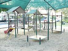 Playground equipment and shade sail Gladstone Surrounds Preview
