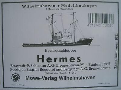Hermes Hochseeschlepper  Schiff Wilhelmshavener Modellbaubogen Kartonmodell