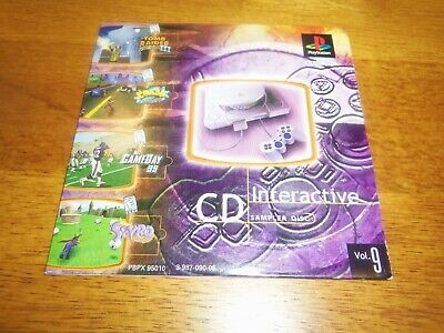 Sony Playstation 1 PS1 Interactive CD Volume 9 Sampler Demo Disc