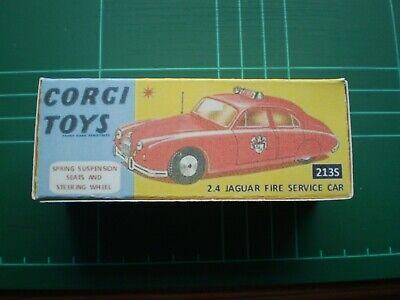 Corgi 213 Jaguar 2.4 Ltr Fire Chief Car decal set only pre-cut