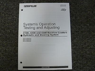 Caterpillar Cat 416e 422e 428e Backhoe Hydraulic System Service Repair Manual