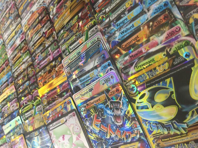 Pokemon Tcg 100 Card Lot - Comm/uncom/rare/holo & 1 V/gx/ex/full Art/secret Rare