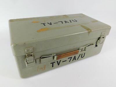 Tv-7au Vintage Military Tube Tester W Accessories Works Well