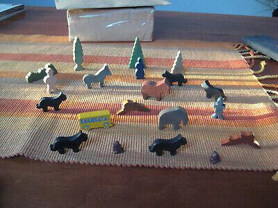 20 kleine Holz-Tiere, Figuren und Fahrzeuge online kaufen