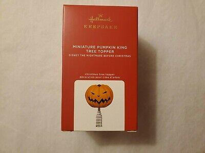 Hallmark 2020 Miniature Pumpkin King Tree Topper Nightmare Before Christmas