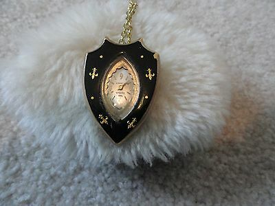 Vintage Waltham 17 Jewels Wind Up Necklace Pendant Watch Pin
