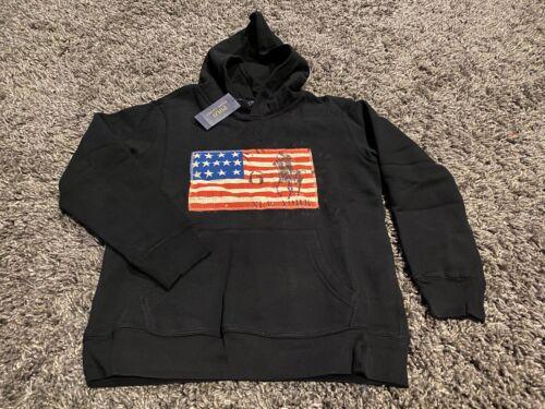 Polo Ralph Lauren big pony 67 USA flag hoodie hooded sweatshirt Black M Olympics