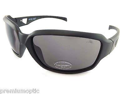 Dark Black Lens Rock (STONE wrap Sunglasses MATTE BLACK with Gunmetal / Dark Grey CAT.3 Lens ST155 )
