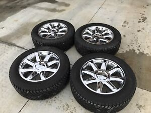 """20"""" GMC Wheels with Studded Nokian Winter Tires with Sensors"""