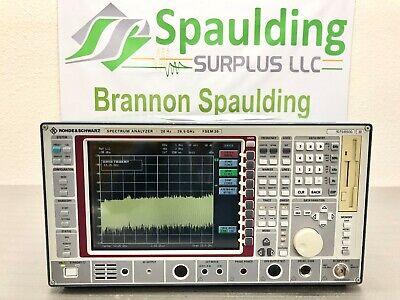 Rohde Schwarz Fsem30 20hz - 26.5ghz Spectrum Analyzer W Opts B4 B5 - Cald