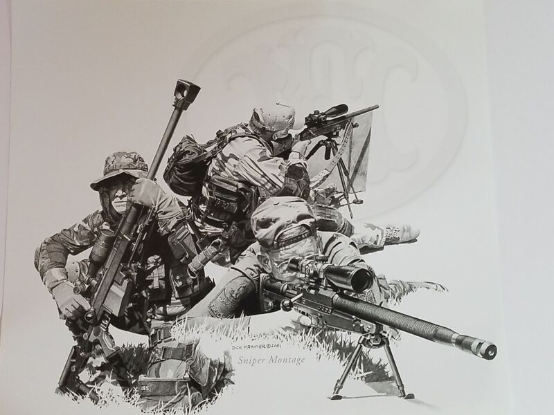 Dick Kramer Print Law Enforcement Military SNIPER MONTAGE For FN Herstal 2001