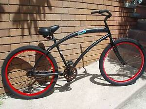 skull x bones cruiser bike-26 inch wheels-single speed-rides good Manly Manly Area Preview