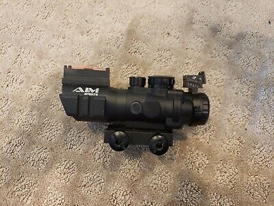 AIM Sports Airsoft Acog with Illuminated 3 Color Reticle and Backup Sights