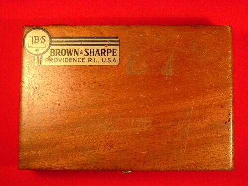 "Vintage Brown and Sharp Precision Machinist 6"" Square - Original Wood Case #542"