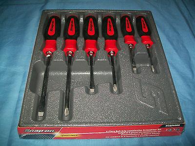 NEW Snap-on™ Instinct RED Soft Handled 6-piece Screwdriver SET SGDX60BR Sealed