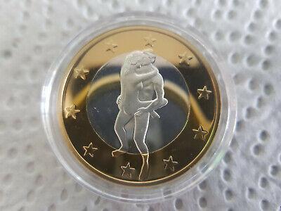 6 EURO - Kamasutra SEX Medaille (16) - vergoldet versilbert in Kapsel online kaufen