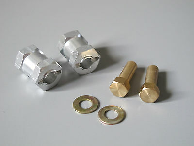 Axle Shaft Tamiya 1//10 CR01 CR-01 Chassis 30mm Wide Wheel Hub Spacer Widener