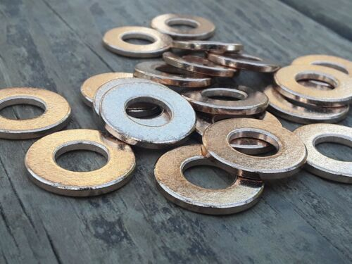 как выглядит Товар для металлообработки 40pc, Metal Stamping Blanks, Bronze Washer, Made In USA, Jewelry Discs,  Washers фото
