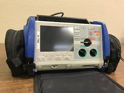 Zoll M Series Monitor 3 Lead Sp02 Co2 Nibp Pacer Case W Cables Biomed Inspected