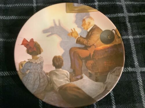 The Shadow Artist by Norman Rockwell Plate 1987 Free Ship