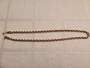 18K 6mm plated Rope Chain