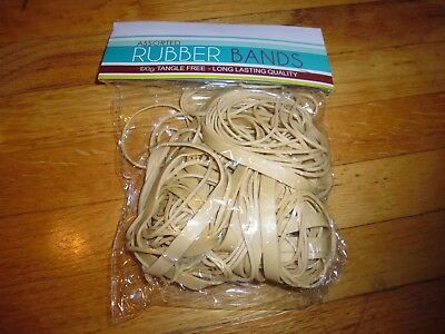 New ! 100 grams Assorted Size  Rubber Bands  Tangle Free Lon