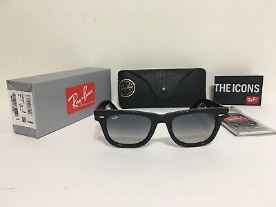 NEW RAY BAN RB2140 901/32 Wayfarer Black/Gray Gradient 50mm Lens Sunglasses
