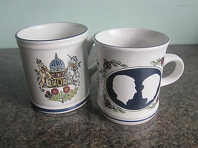 Denby - Royal Wedding Commemorative Mugs - Prince Charles and Lady Diana Spencer