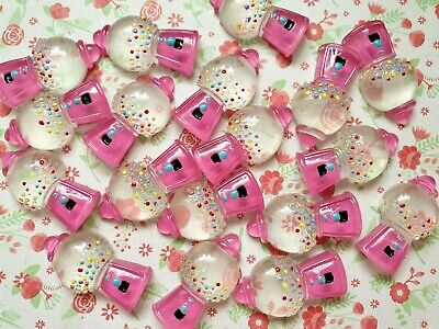 3 x Pink Gumball Machine Flatback Resin Embellishment Crafts Cabochon Decoden