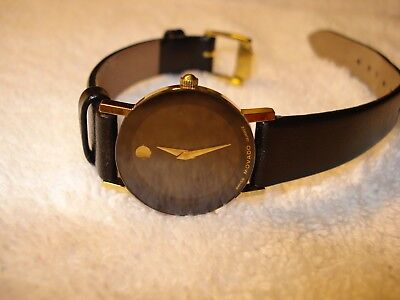 Rare ~ Mint MOVADO Museum 87 25 825 Women's 25mm Sapphire Crystal Swiss Watch