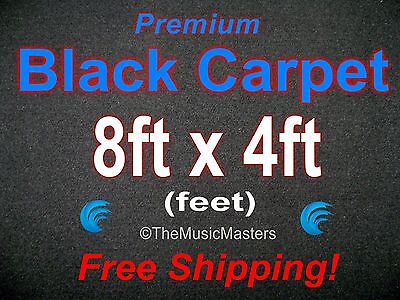 - 8' x 4' BLACK CARPET for Car Sub Speaker Box Cabinet Pro Road Case Trunk Liner