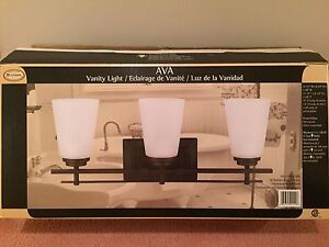 Vanity Light Fixtures - 3 Bulb - Manufactured by AVA