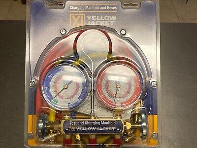 Yellow Jacket 42201 Manifold Gauge And Hose Set Nib.series 41 Test Charging