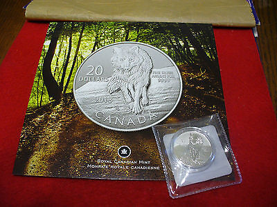 2013  20$ FOR 20$ .9999  FINE SILVER COIN  CANADA  WOLF  WITH CERTIFICATE