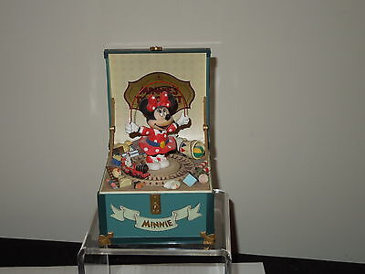 Disney Schmid Minnie's Toy Chest Hand Painted Music Box