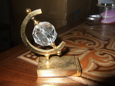 Crystal Globe Small Picture or Card Holder