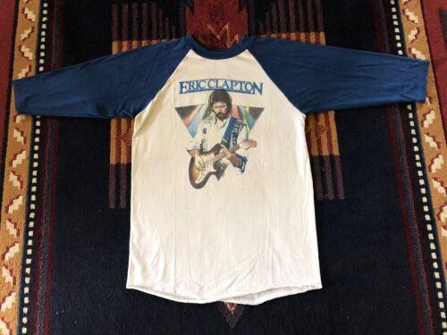 ERIC CLAPTON ORIGINAL RARE AUTHENTIC VINTAGE 1980 AMERICAN TOUR CONCERT T-SHIRT!