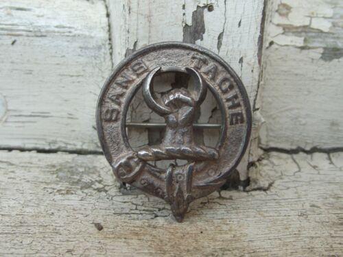 Vintage Scottish Solid Silver Clan Brooch / Badge For Clan Napier