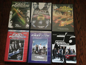 FAST AND FURIOUS 1-6 DVDS