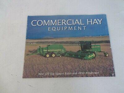 John Deere Commercial Hay Equipment 100 Square Baler And 4890 Windrower Brochure