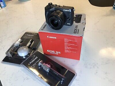 Canon EOS M6 Mirrorless Camera Kit (Black), Great Condition!