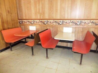 6 Vintage Restaurant Diner Cafe Dining Booths Breakfast Nook
