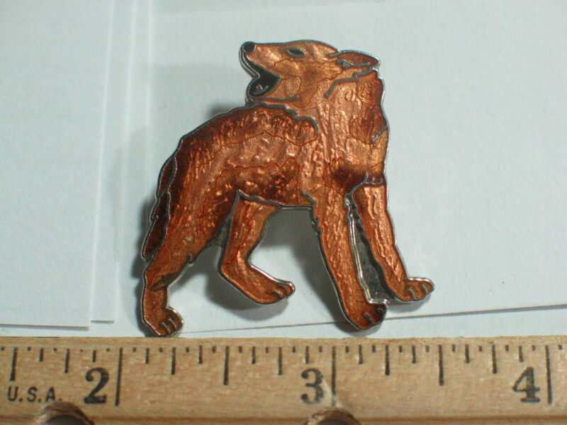 Coyote Pin  or  Wolf Howling Pin (Rare) (ex-lg)