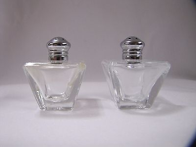 Antique Salt and Pepper Shakers Small Glass Art Deco L Rice